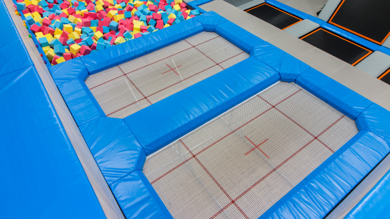 Gymnastic jump zone